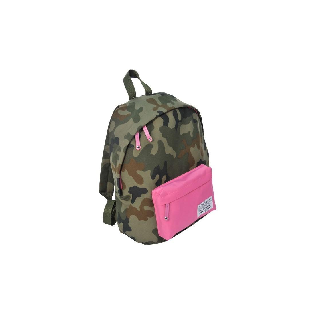 Plecak młodzieżowy Ciemne Moro różowy