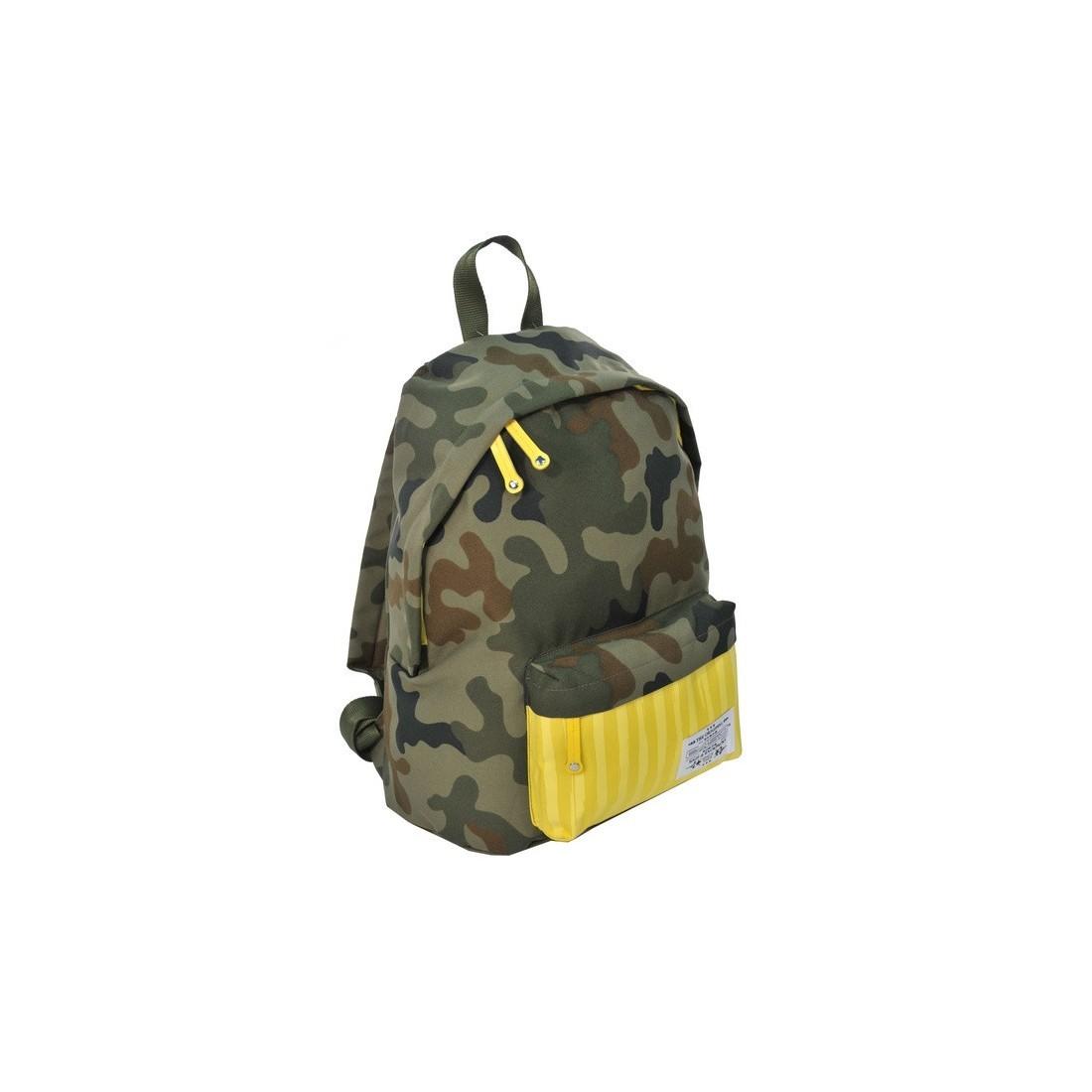 Plecak młodzieżowy Ciemne Moro żółty w paski