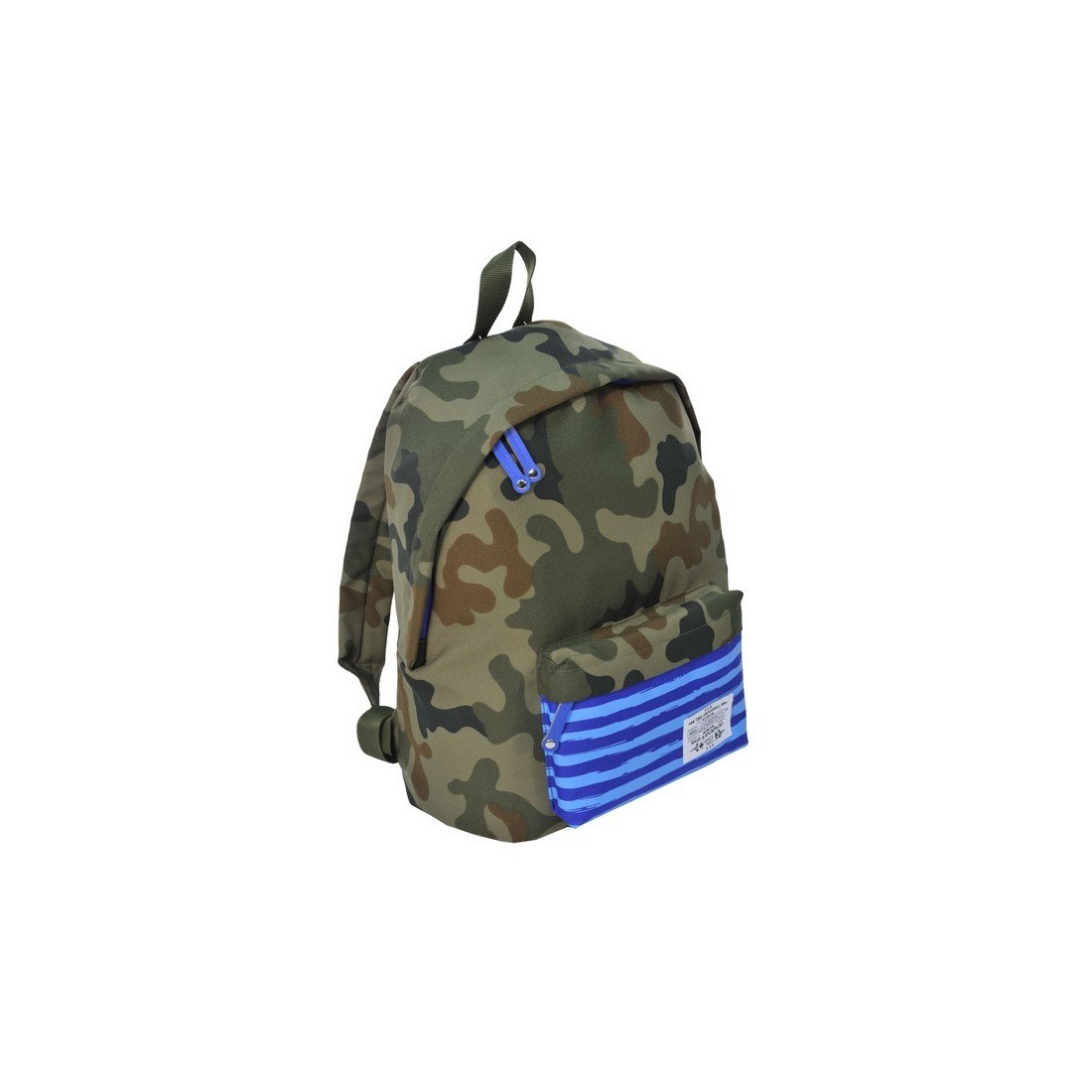 Plecak młodzieżowy Ciemne Moro niebieski w paski