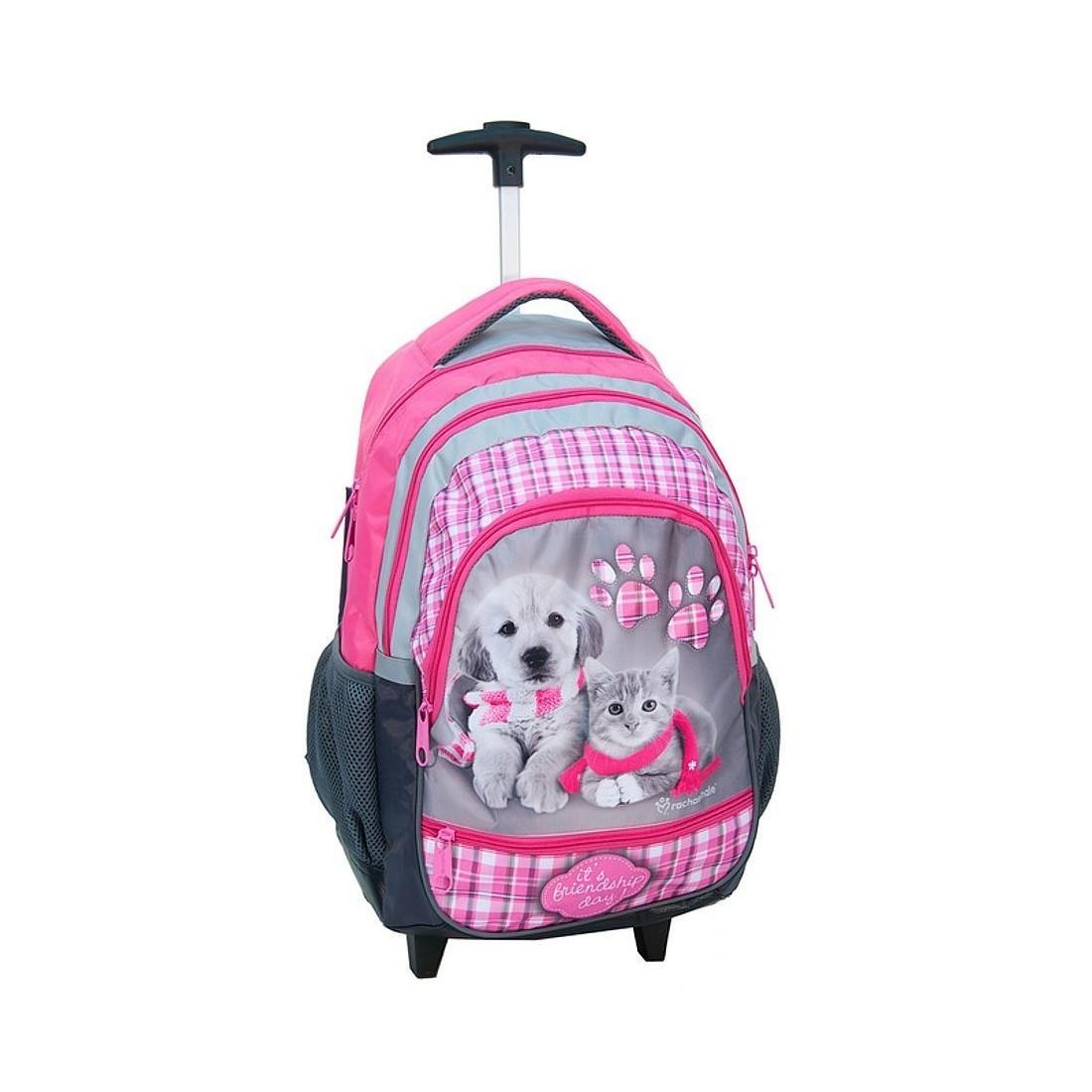 Plecak na kółkach pies i kot