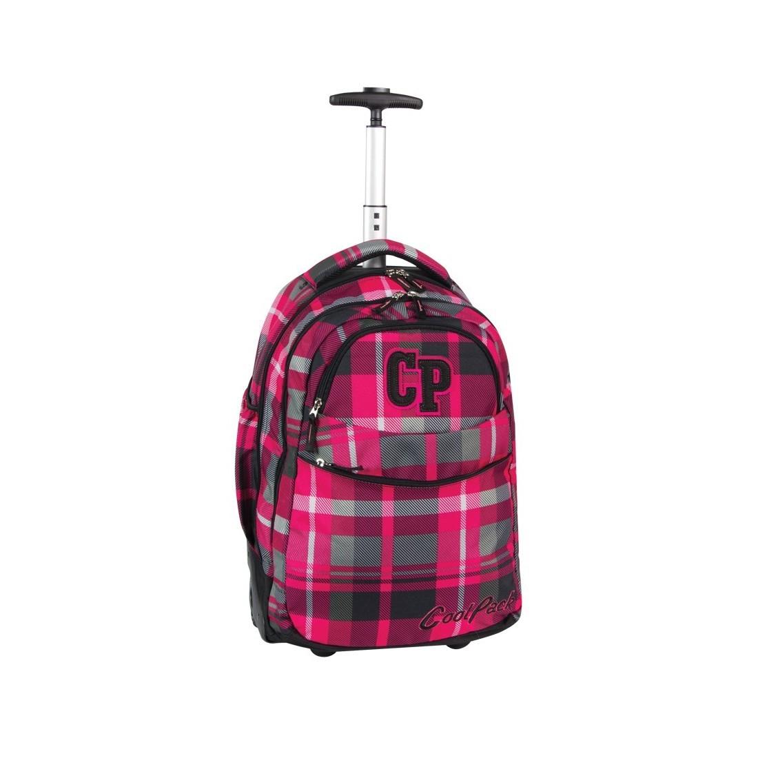 Plecak CoolPack na kółkach dla dziewczynki w kratę - CP 103