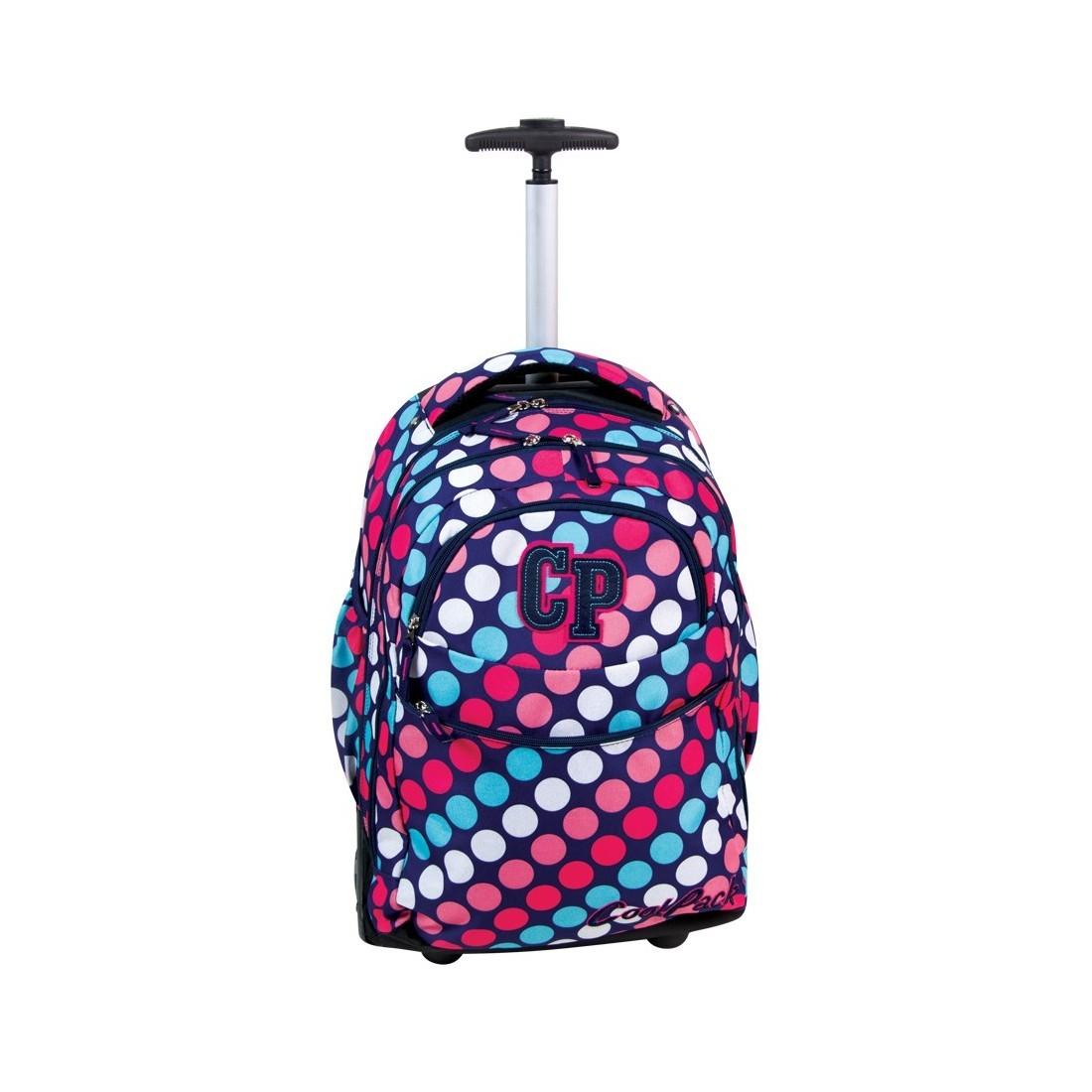 Plecak CoolPack na kółkach dla dziewczyny w kropki - CP 032