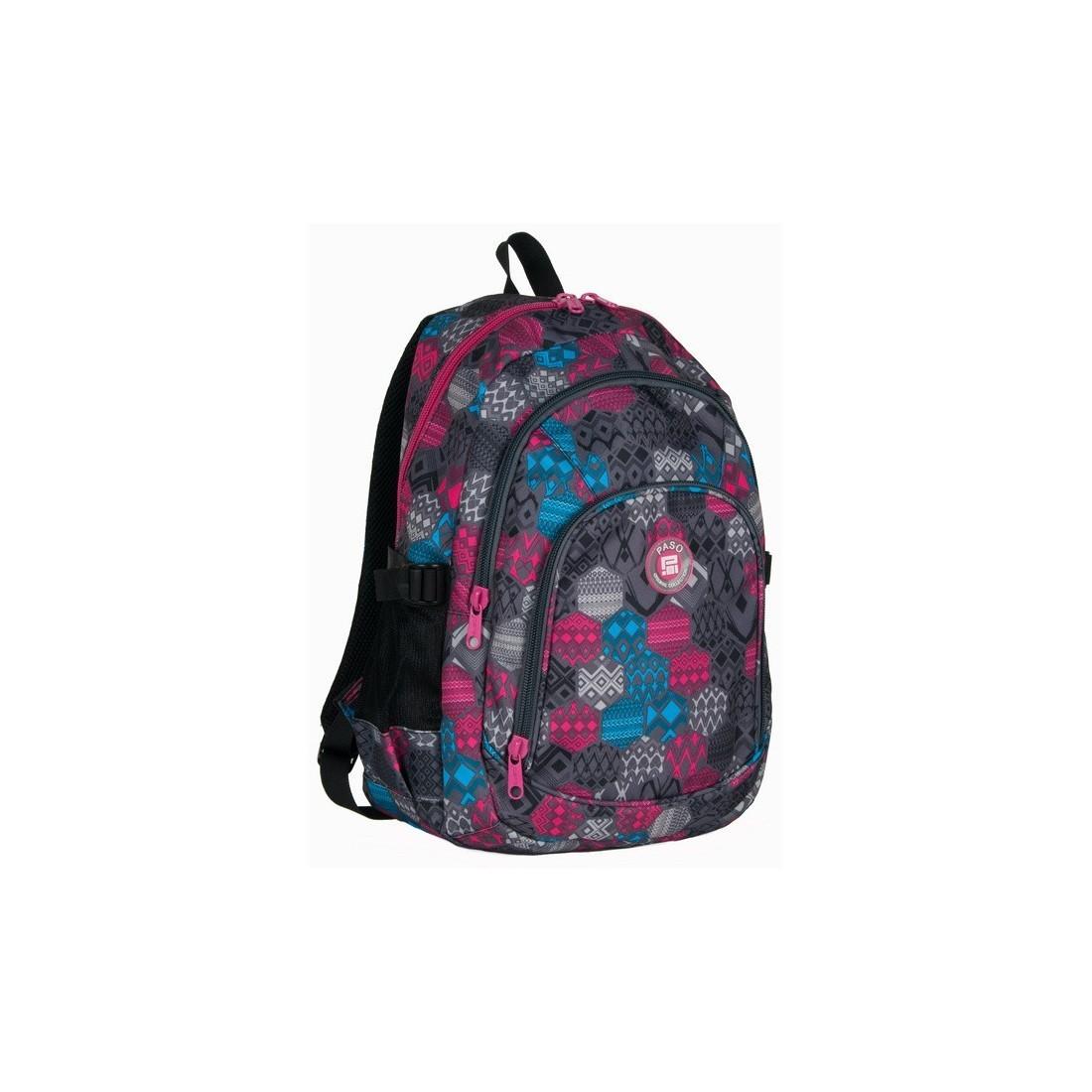 Plecak młodzieżowy w kolorowe figury