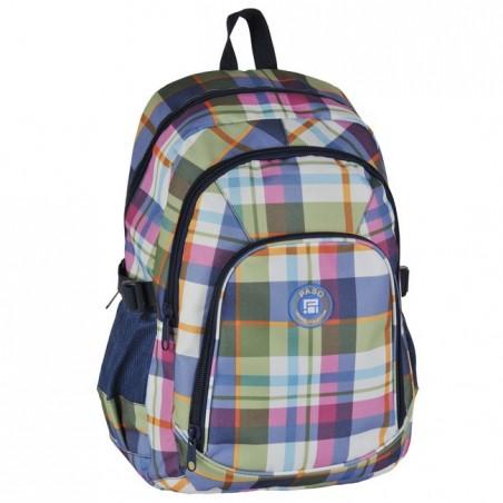 Plecak młodzieżowy w pastelową kratę