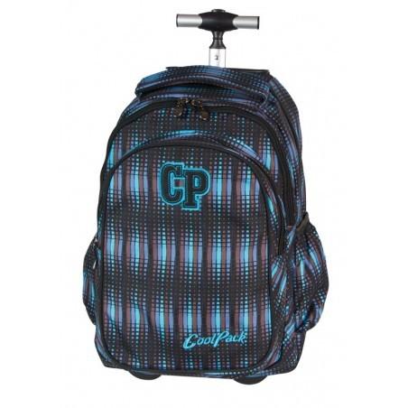 Plecak CoolPack na kółkach dla chłopca w paski - JUNIOR BLUE FLASH CP 232