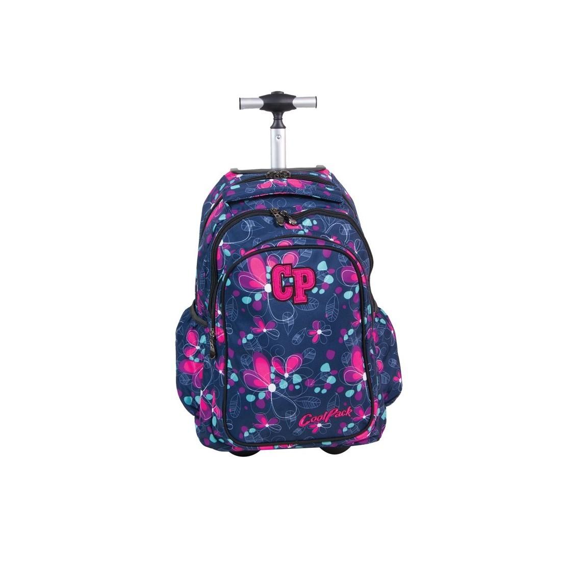 Plecak CoolPack na kółkach dla dziewczynki w kwiatki - CP 201