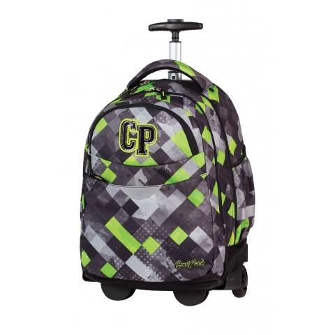 Plecak na kółkach CoolPack CP szary w kratkę dla chłopca RAPID GRUNGE GREY 457