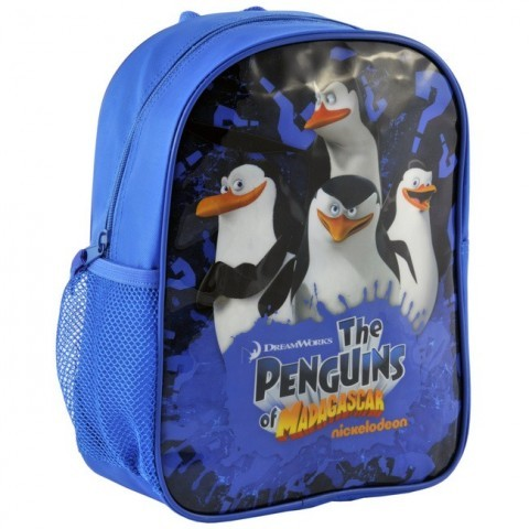 Plecaczek Pingwiny z Madagaskaru niebieski
