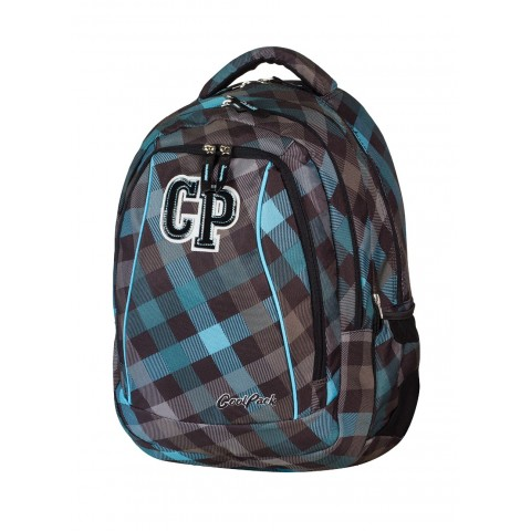 Plecak młodzieżowy CoolPack CP szary w kratkę - 2w1 COMBO CLASSIC GREY 488