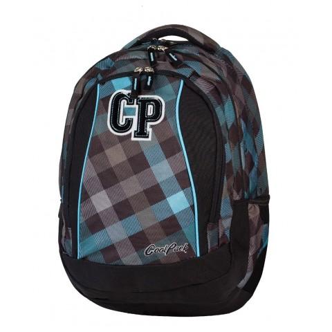 Plecak młodzieżowy CoolPack CP szary w kratkę - 3 przegrody STUDENT CLASSIC GREY 486