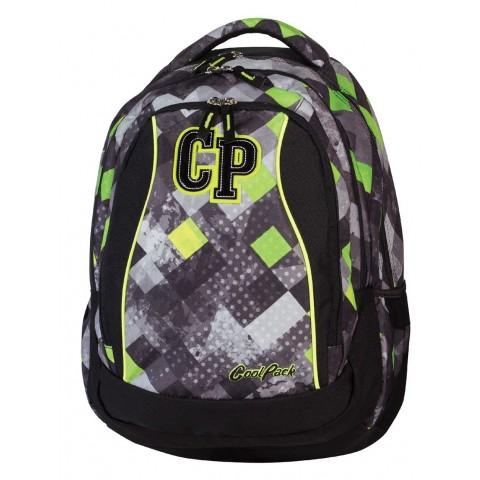 Plecak młodzieżowy CoolPack CP szary w kratkę - 3 przegrody STUDENT GRUNGE GREY 456