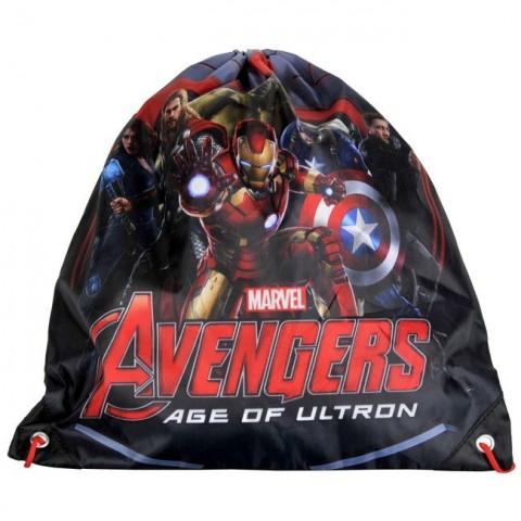 Worek szkolny Avengers czarny