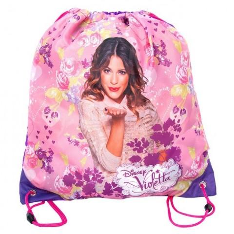 Worek szkolny Violetta różowo fioletowy