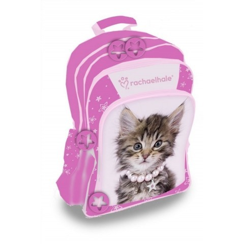 Plecak szkolny Rachael Hale - różowy z kotkiem