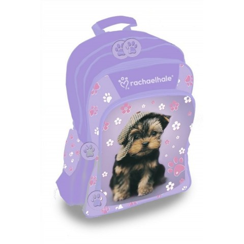 Plecak szkolny Rachael Hale - fioletowy z pieskiem York