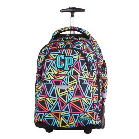 CoolPack CP plecak do szkoły na kółkach z kolorowymi trójkątami - super model dla dziewczynki
