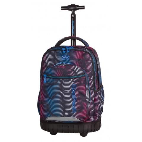 Plecak na kółkach CoolPack CP kolorowa lawa - czarny, niebieski, czerwony dla chłopca lub dziewczynki