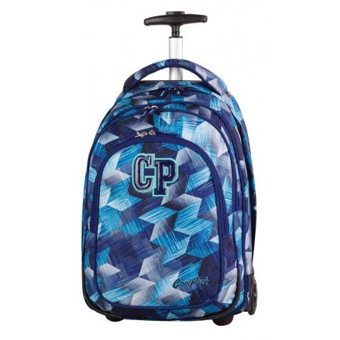 Plecak na kółkach CoolPack CP TARGET FROZEN BLUE niebieskie kryształy dla chłopca