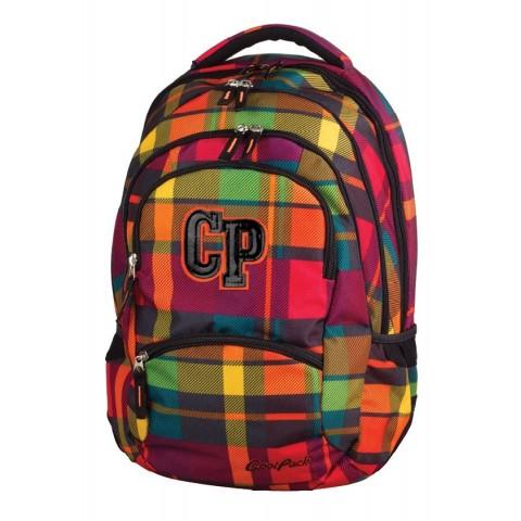 Plecak młodzieżowy CoolPack CP COLLEGE SUNSET CHECK 617 słoneczna kratka - 5 przegród