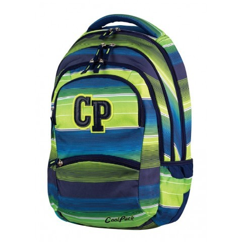 Plecak młodzieżowy CoolPack CP COLLEGE MULTI STRIPES 644 zielono-niebieski w paski - 5 przegród