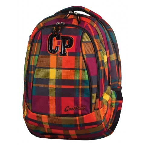 Plecak młodzieżowy CoolPack CP COMBO SUNSET CHECK 619 słoneczna kratka - 2w1