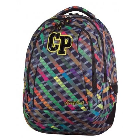 Plecak młodzieżowy CoolPack CP 660 COMBO RAINBOW STRIPES kolorowe paski - 2w1