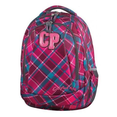Plecak młodzieżowy CoolPack CP COMBO CRANBERRY CHECK 632 wiśniowy w kratkę - 2w1