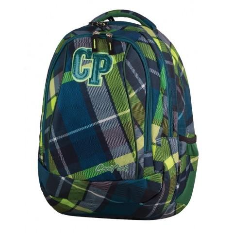 Plecak młodzieżowy CoolPack CP COMBO VERDURE 625 zielony w kratkę - 2w1