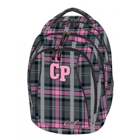 Plecak młodzieżowy CoolPack CP COMBO SCOTISH DAWN 695 szaro-różowy w kratkę - 2w1