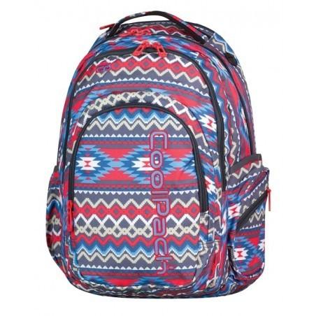 Plecak młodzieżowy CoolPack CP SPARK II BOHO BEIGE 802 czerwono-niebieski boho