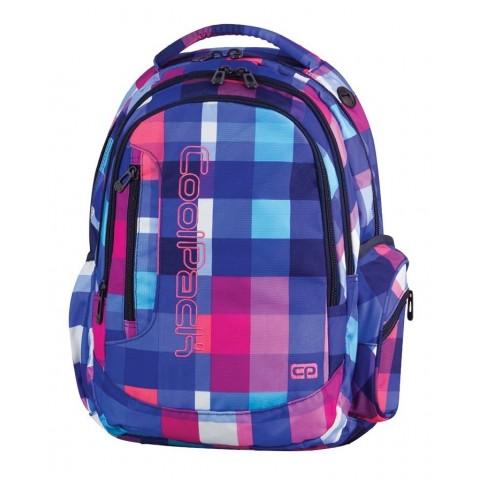 Plecak młodzieżowy CoolPack CP 3 przegrody LEADER CUBIC 730 kolorowe kwadraty