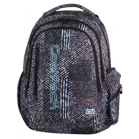Plecak młodzieżowy CoolPack CP LEADER MONOCHROMATIC 826 3 przegrody czarno-biały w paski