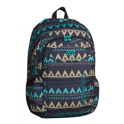 Plecak młodzieżowy CoolPack CP URBAN EMERALD ETHNIC 982 etno szary