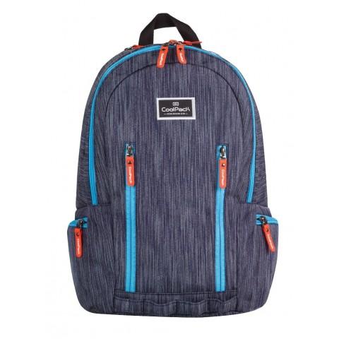 Plecak młodzieżowy CoolPack CP IMPACT BLUE RAW 710 granatowy jeans