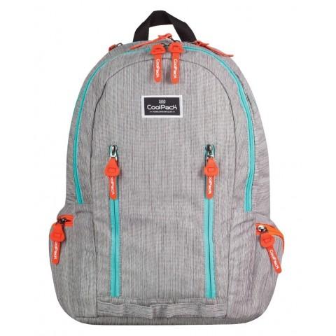 Plecak młodzieżowy CoolPack CP IMPACT SILVER RAW 706 szary jeans