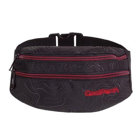 Saszetka / nerka / torba na pas CoolPack MADISON TOPOGRAPHY RED CP 980