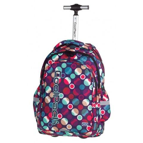 Plecak na kółkach CoolPack CP pastelowy w kropki JUNIOR MOSAIC DOTS 721 dla dziewczynki
