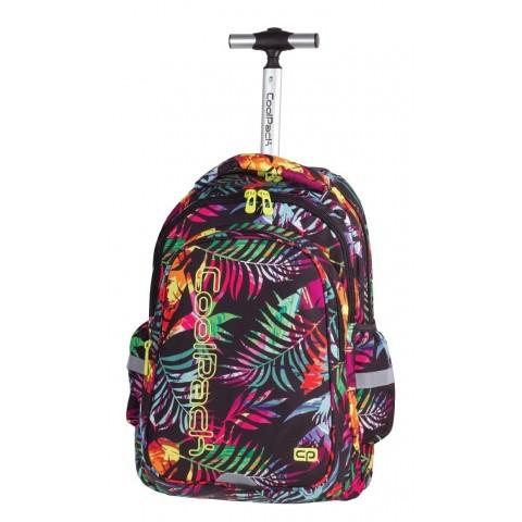 Plecak na kółkach CoolPack CP JUNIOR TROPICAL ISLAND 771 Tropikalne liście kolorowe dla dziewczynki - moda szkolna 2017