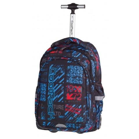 Plecak na kółkach CoolPack CP JUNIOR UNDERGROUND 833 czarny z napisami dla chłopca