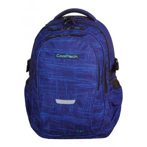 Plecak młodzieżowy CoolPack CP - 4 przegrody FACTOR BLUE FIBRE 995 niebieski