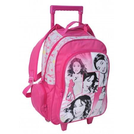Plecak na kółkach Violetta różowy