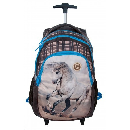 Plecak na kółkach z koniem