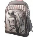 Plecak Szkolny z Koniem - szary