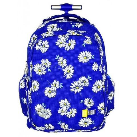 Plecak na kółkach ST.RIGHT DAISIES niebieski w stokrotki