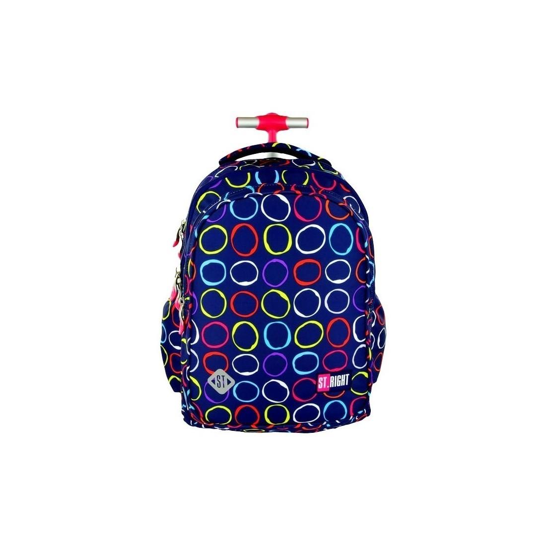 Plecak na kółkach ST.RIGHT HOOPS kolorowe kółka