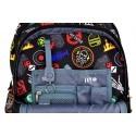 Plecak na kółkach ST.RIGHT BADGES kolorowe odznaki