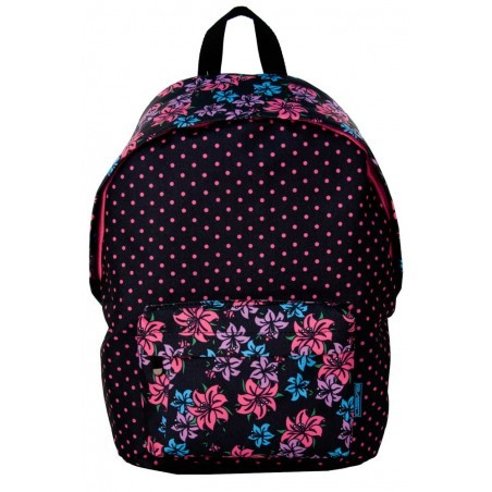 Plecak młodzieżowy w kropki i kwiaty
