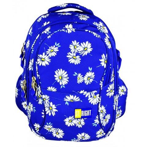 Plecak młodzieżowy 01 ST.RIGHT DAISIES niebieski w stokrotki