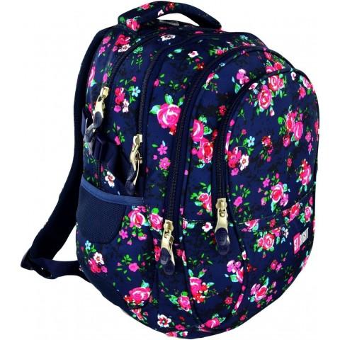 Plecak młodzieżowy 01 ST.RIGHT NIGHT ROSE GARDEN w róże