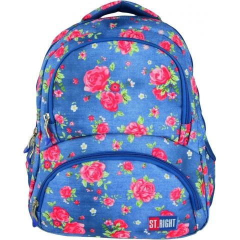 Plecak młodzieżowy 07 ST.RIGHT GARDEN niebieski w róże